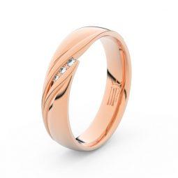 Dámský snubní prsten  z růžového zlata a diamanty, Danfil DF 3044