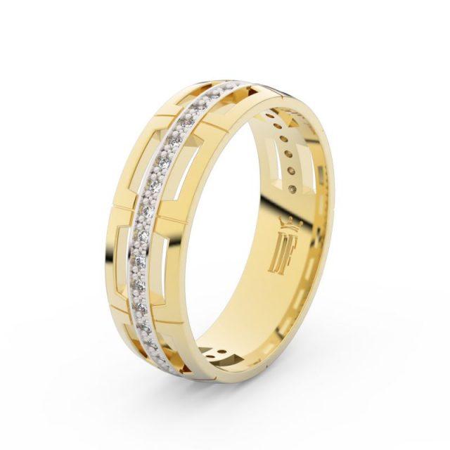 Dámský snubní prsten ze žlutého zlata s diamanty Danfil DF 3048