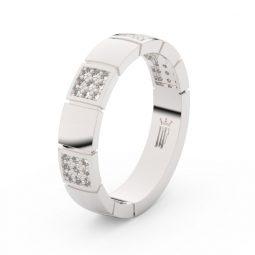 Dámský snubní prsten z bílého zlata s brilianty, Danfil DF 3057