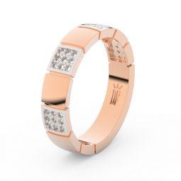 Dámský snubní prsten  z růžového zlata a diamanty, Danfil DF 3057
