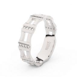 Dámský snubní prsten z bílého zlata s brilianty, Danfil DF 3084