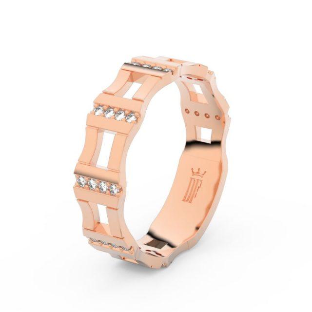 Dámský snubní prsten  z růžového zlata a diamanty, Danfil DF 3084