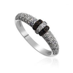 Zásnubní prsten z bílého zlata s diamanty, Danfil DF 3190-1B
