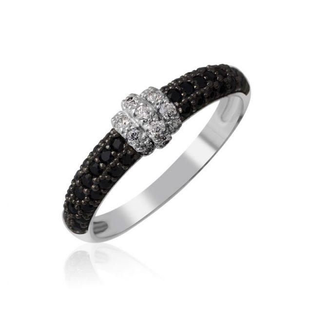 Zásnubní prsten z bílého zlata s diamanty, Danfil DF 3190B