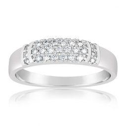 Zásnubní prsten z bílého zlata s diamanty, Danfil DF 3192B