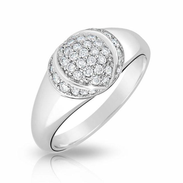 Zásnubní prsten z bílého zlata s diamanty, Danfil DF 3193B