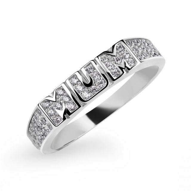 Zásnubní prsten z bílého zlata s diamanty, Danfil DF 3202B