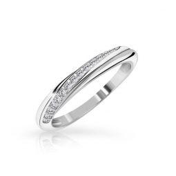 Zásnubní prsten z bílého zlata s diamanty, Danfil DF 3302B