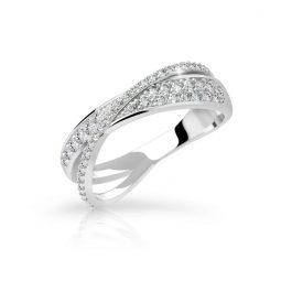 Zásnubní prsten z bílého zlata s diamanty, Danfil DF 3348B