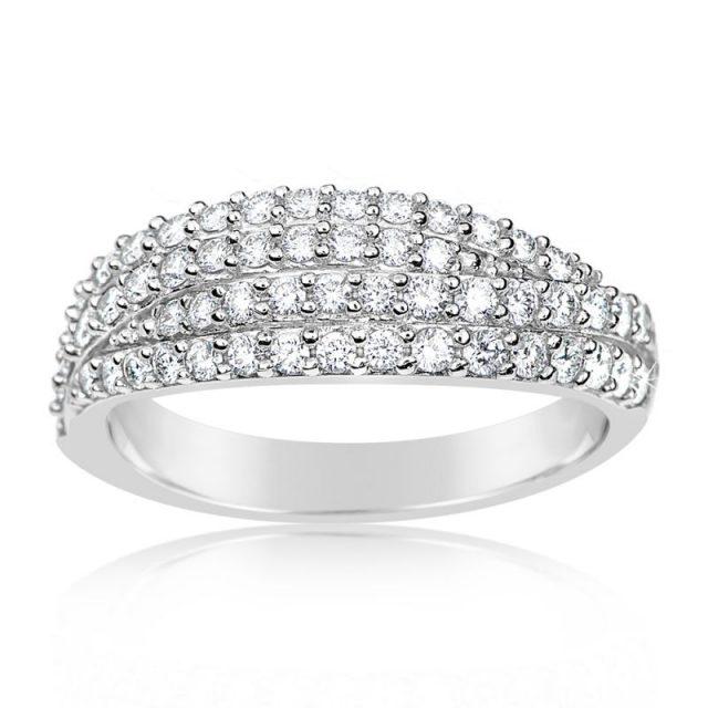 Zásnubní prsten z bílého zlata s diamanty, Danfil DF 3350B