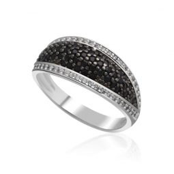 Zásnubní prsten z bílého zlata s diamanty, Danfil DF 3353B