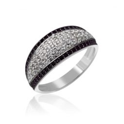 Zásnubní prsten z bílého zlata s diamanty, Danfil DF 3353-1B