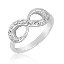 Zásnubní prsten z bílého zlata s diamanty, Danfil DF 3440B