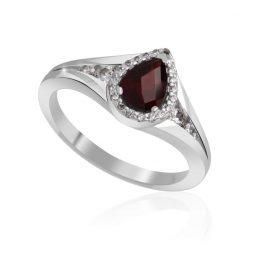 Zásnubní prsten z bílého zlata s diamanty, Danfil DF 3459B