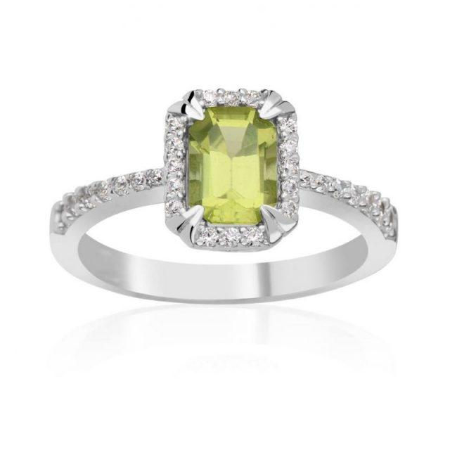 Zásnubní prsten z bílého zlata s diamanty, Danfil DF 3464B