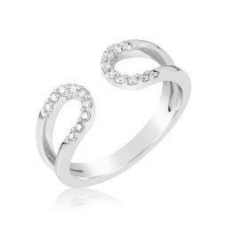 Zásnubní prsten z bílého zlata s diamanty, Danfil DF 3600B