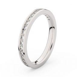 Dámský snubní prsten z bílého zlata s diamanty, Danfil DF 3893