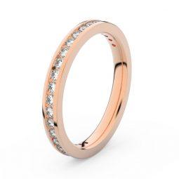 Dámský snubní prsten z růžového zlata s diamanty, Danfil DF 3893