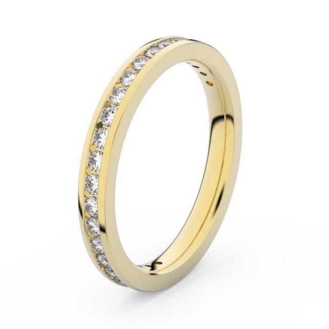 Dámský snubní prsten ze žlutého zlata s diamanty, Danfil DF 3893