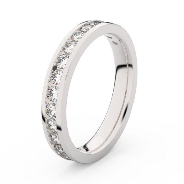 Dámský snubní prsten z bílého zlata s diamanty, Danfil DF 3894