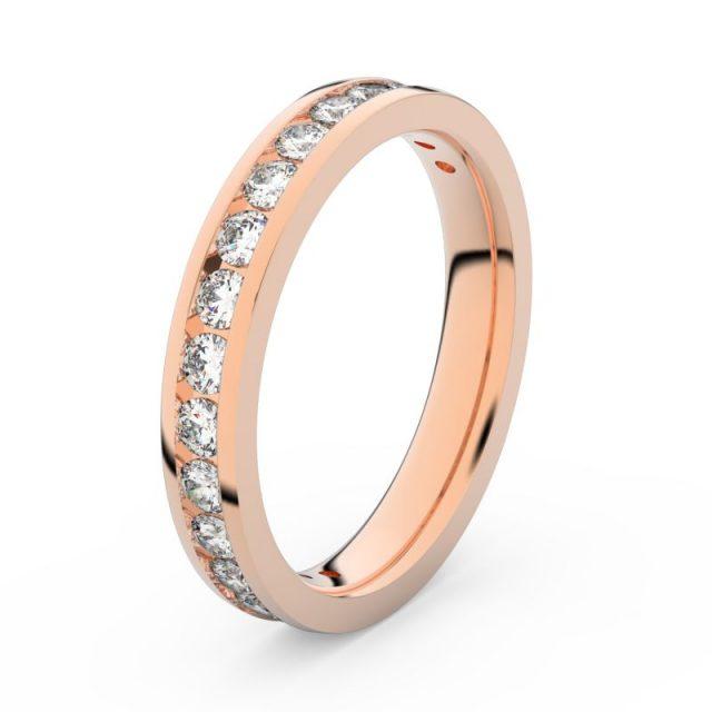 Dámský snubní prsten z růžového zlata s diamanty, Danfil DF 3894