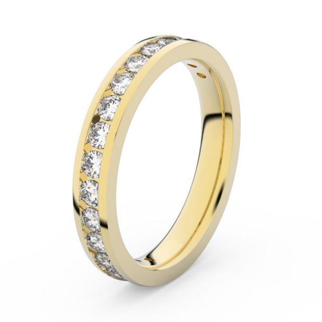 Dámský snubní prsten ze žlutého zlata s diamanty, Danfil DF 3894