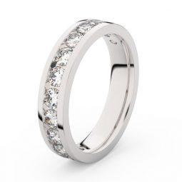 Dámský snubní prsten z bílého zlata s diamanty, Danfil DF 3895