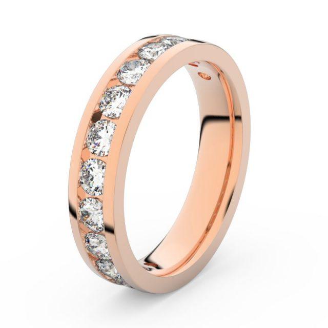 Dámský snubní prsten z růžového zlata s diamanty, Danfil DF 3895