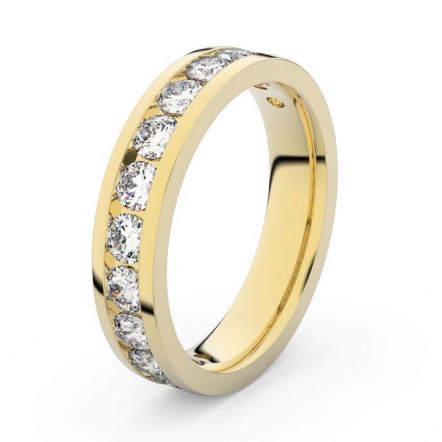 Dámský snubní prsten ze žlutého zlata s diamanty, Danfil DF 3895