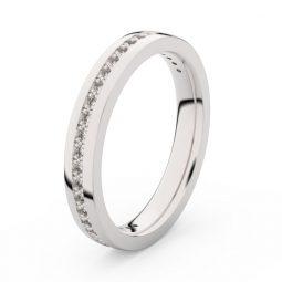 Dámský snubní prsten z bílého zlata s diamanty, Danfil DF 3896