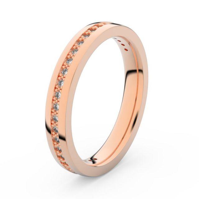 Dámský snubní prsten z růžového zlata s diamanty, Danfil DF 3896