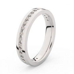Dámský snubní prsten z bílého zlata s diamanty, Danfil DF 3897