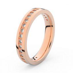 Dámský snubní prsten z růžového zlata s diamanty, Danfil DF 3897