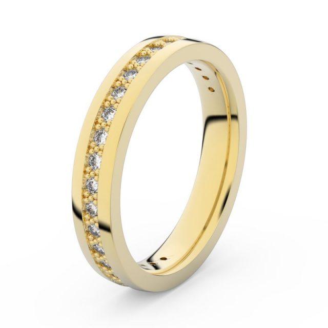 Dámský snubní prsten ze žlutého zlata s diamanty, Danfil DF 3897