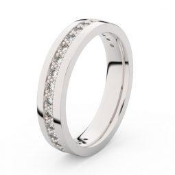 Dámský snubní prsten z bílého zlata s diamanty, Danfil DF 3898
