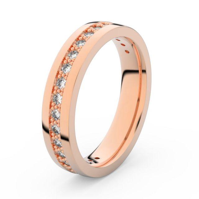 Dámský snubní prsten z růžového zlata s diamanty, Danfil DF 3898