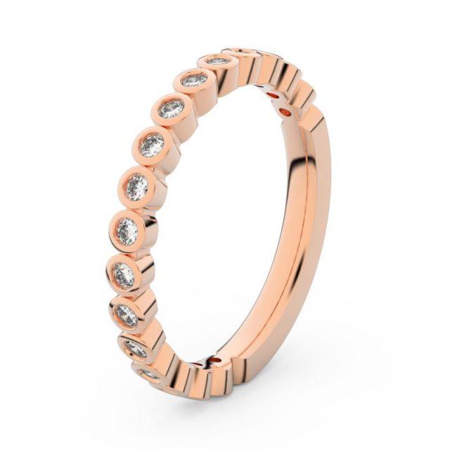 Dámský snubní prsten z růžového zlata s diamanty, Danfil DF 3899