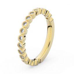 Dámský snubní prsten ze žlutého zlata s diamanty, Danfil DF 3899