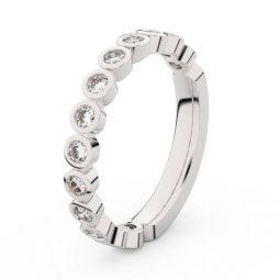 Dámský snubní prsten z bílého zlata s diamanty, Danfil DF 3900