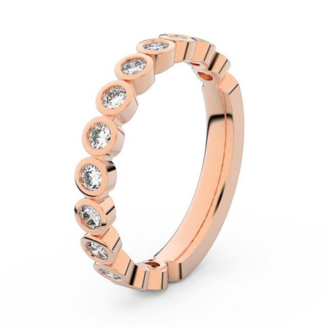 Dámský snubní prsten z růžového zlata s diamanty, Danfil DF 3900