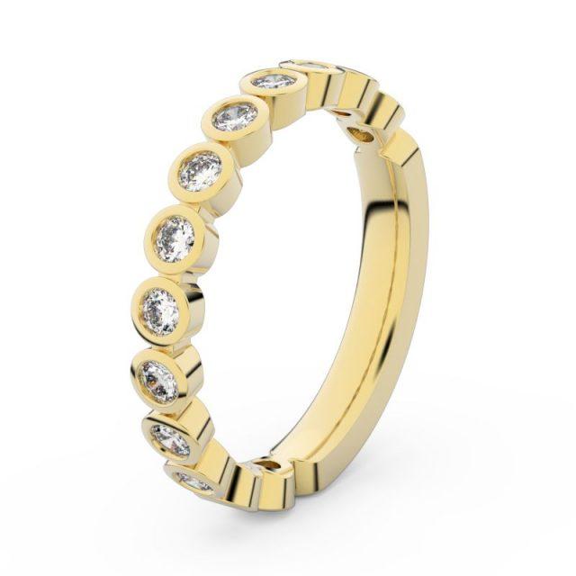 Dámský snubní prsten ze žlutého zlata s diamanty, Danfil DF 3900