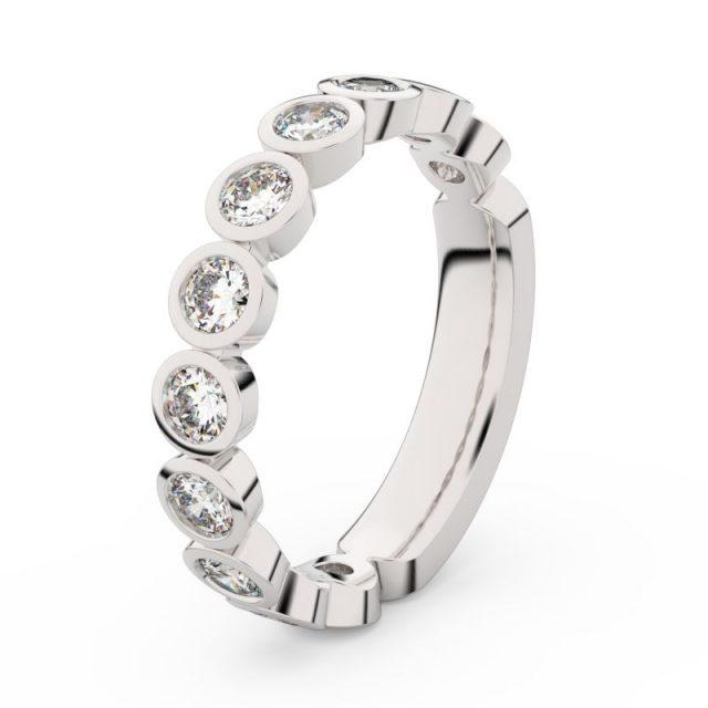 Dámský snubní prsten z bílého zlata s diamanty, Danfil DF 3901