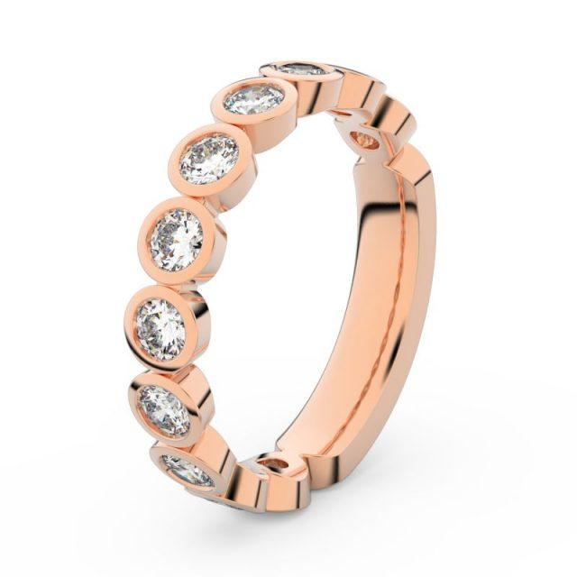 Dámský snubní prsten z růžového zlata s diamanty, Danfil DF 3901