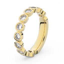 Dámský snubní prsten ze žlutého zlata s diamanty, Danfil DF 3901