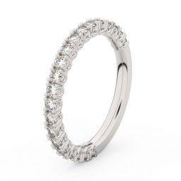 Dámský snubní prsten z bílého zlata s diamanty, Danfil DF 3902