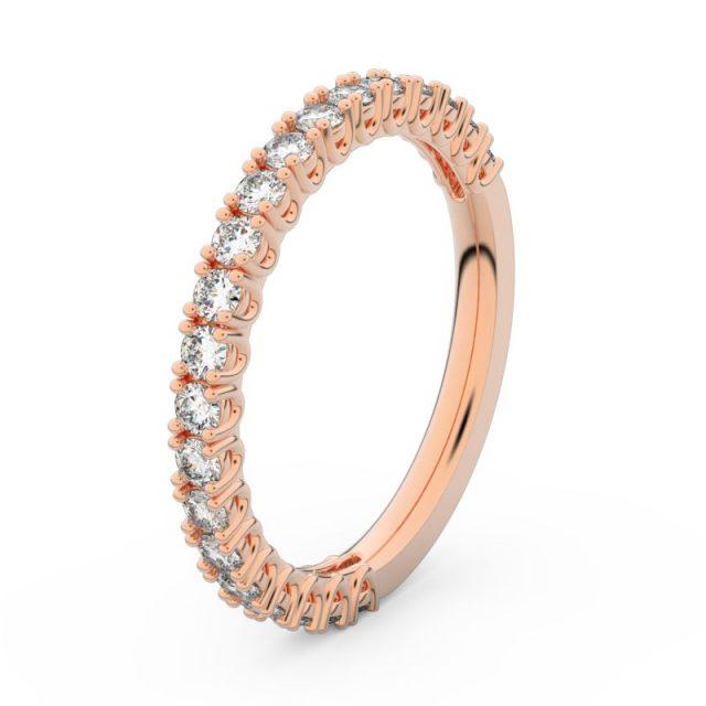 Dámský snubní prsten z růžového zlata s diamanty, Danfil DF 3902