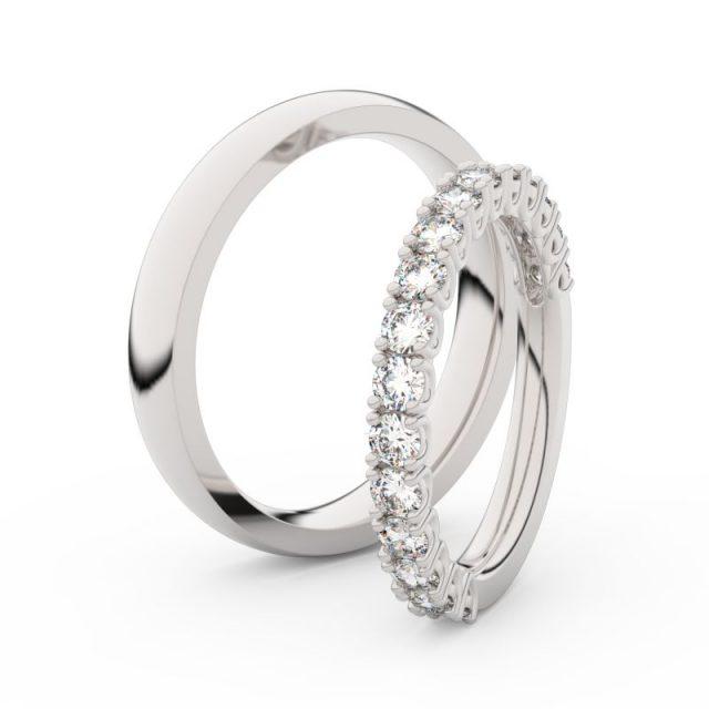 Dámský snubní prsten z bílého zlata s diamanty, Danfil DF 3903
