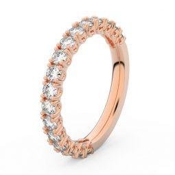 Dámský snubní prsten z růžového zlata s diamanty, Danfil DF 3903