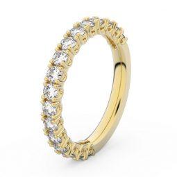 Dámský snubní prsten ze žlutého zlata s diamanty, Danfil DF 3903