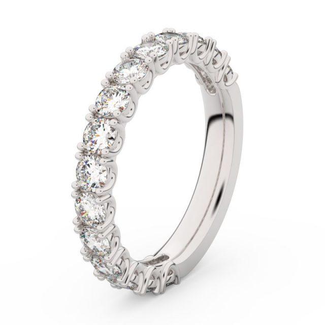 Dámský snubní prsten z bílého zlata s diamanty, Danfil DF 3904